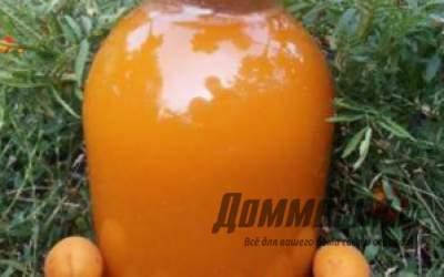 Домашняя фанта из абрикос из абрикосов