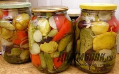 Салат из свежих овощей на зиму