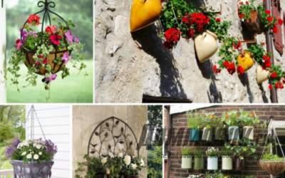 Декоративные кашпо в саду