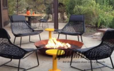 Живой огонь в саду. Декоративные свечи, металлические шары и тигели
