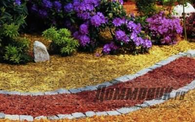 Варианты использования декоративной щепы в саду