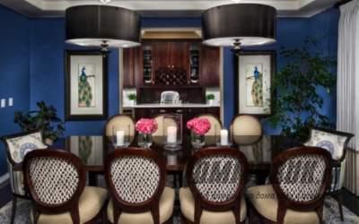 Синий в интерьере дома: благородный холод или глубокая синяя красота?