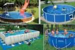 Выбор долговечного каркасного бассейна для дачи