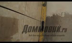 Embedded thumbnail for Укладка плитки на заваленную стену