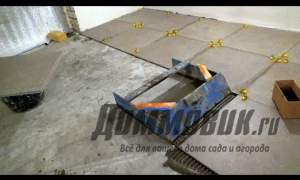 Embedded thumbnail for Укладка плитки пола в гараже