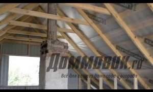 Embedded thumbnail for Устройство двухскатной крыши