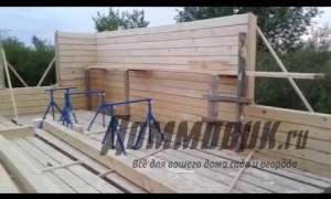 Embedded thumbnail for Как построить дом из бруса своими руками