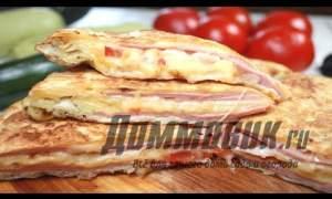 Embedded thumbnail for Быстрый завтрак из лаваша сыром и яйцом