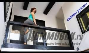 Embedded thumbnail for Перила для лестницы в доме своими руками