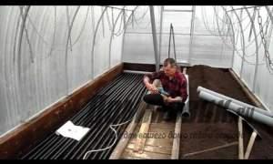 Embedded thumbnail for Как сделать подогрев земли в теплице