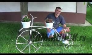 Embedded thumbnail for Подставка для цветов велосипед
