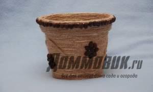 Embedded thumbnail for Как украсить цветочный горшок