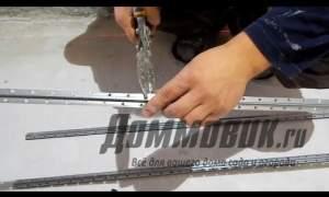 Embedded thumbnail for Как выставить маяки под штукатурку