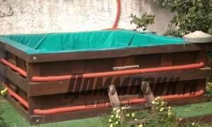 Embedded thumbnail for Как сделать бассейн из поддонов